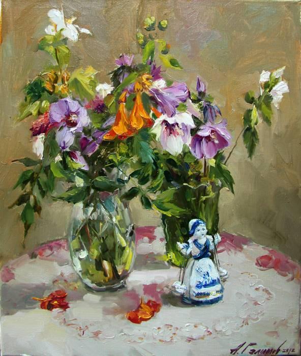 Продажа картин азата галимова цветы и