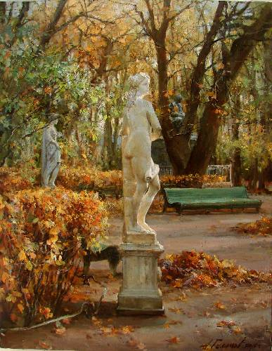 Paintings Azat Galimov. Summer Garden. Allegory of Architecture